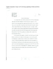 English Composition- Essay- Go Pro Ad Essay, appealing to Pathos and Ethos