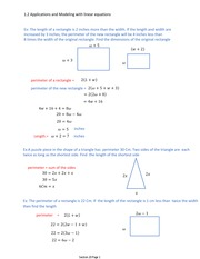 1.2 Applications and Modeling with linear equations