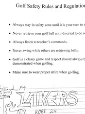 Golf and Archery Rules and Regulations