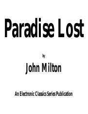 PARADISE LOST (1)