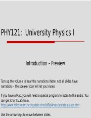 PHY121 T1W1L1 Introduction Preview