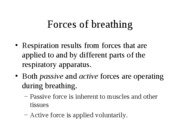 Respiratory physiology HWH