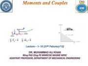 Moments and Couples (Lectures 1-9)
