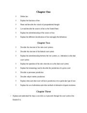 Chapter Objectives Test #1, By Prof. Wears