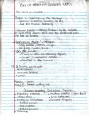 Bio. of Infectious diseases Notes Ch. 1-3