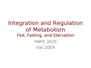 36 - Protein Metabolism and Metabolic Integration