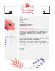pink flower stationary cover letter template.docx