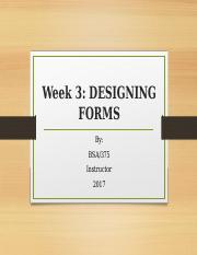 Week3_ Designing Forms