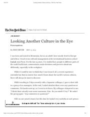 Looking Another Culture in the Eye - The New York Times.pdf