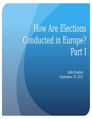 10 - Elections and Electoral Systems I