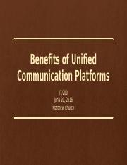 unified communication platforms