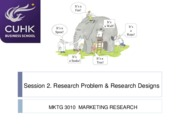 Session 2- problem definition and research design