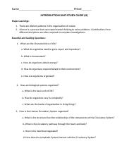 HONORS Unit 1_Intro to Biology Study Guide_2014.docx