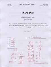 EXAM2-10 Solutions