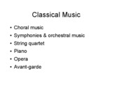 Classical Music Slides