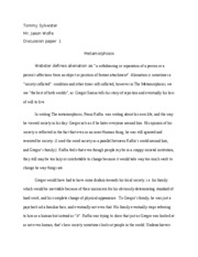 humn 302 metamorphosis take home essay