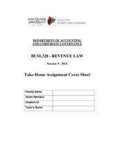 BUSL320-Take-home assignment-S3-2014