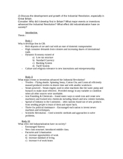 french revolution essay discuss the various causes major  2 pages industrial revolution test outline primary