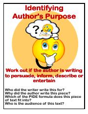 Identifying author purpose