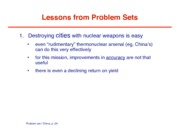 Problem Set and China-lessons from ps