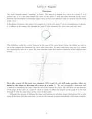 Lecture 2 Tangent