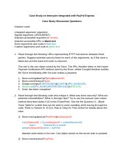 3 Case Study Discussion Questions