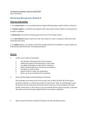 BUS-530 Marketing Management Modile 8.docx