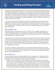 American Psychiatric Association - Feeding and eating disorders fact sheet for DSM-5.pdf