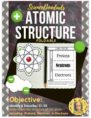 4 - Atomic Structure - Protons, Neutrons, and Electrons - Foldable.pdf