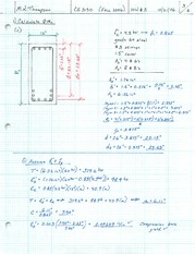 Homework Solutions on Compression Reinforcement