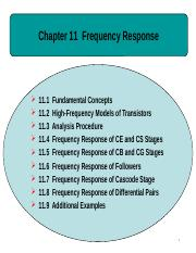 Ch11 Frequency Response