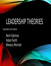 Leadership theories OYM Kevin