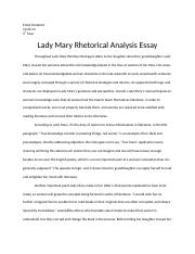 gender roles synthesis essay emily fontenot rd hour gender  3 pages lady mary essay