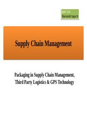 ABM 532, Lecture 28, Packaging, 3PL & GPS Technology