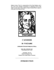 Candide, by Voltaire (ebook)