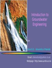 Module 9 Introduction to Groundwater.ppt