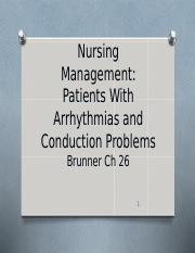 NRS 231 Class 2 Arrhythmias-Conduction Disorders.ppt