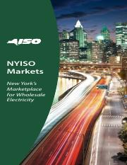 NYISO Markets - New Yorks Marketplace for Wholesale Electricity