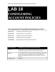Lab Worksheet Lesson 18 Configuring Account Policies