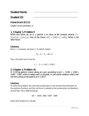Physics 1 Chapter 5 Homework Solutions