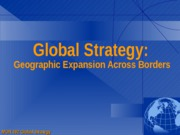 Global Strategy Concepts