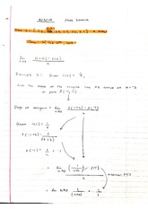 finding the slope of a tangent line lecture