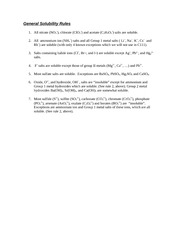 General Solubility Rules