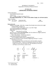 Ch 210L-211L Lab Notebook Format