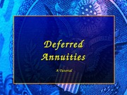 Deferred Annuities