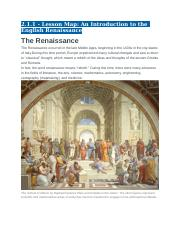 2.1.1 - Lesson Map - An Introduction to the English Renaissance.docx