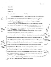 gmo research project essay