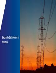 Infrastructure - Electricity Distribution