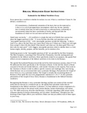 """biblical worldview essay 4 essay Theo 104 biblical worldview essay theo 104 biblical worldview essay  in 2 cor 4:4 we see the phrase used in reference to jesus who is the """"image of god."""