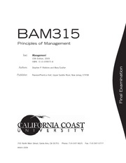 PRINCIPLES OF MANAGEMENT - BAM315FN_0309